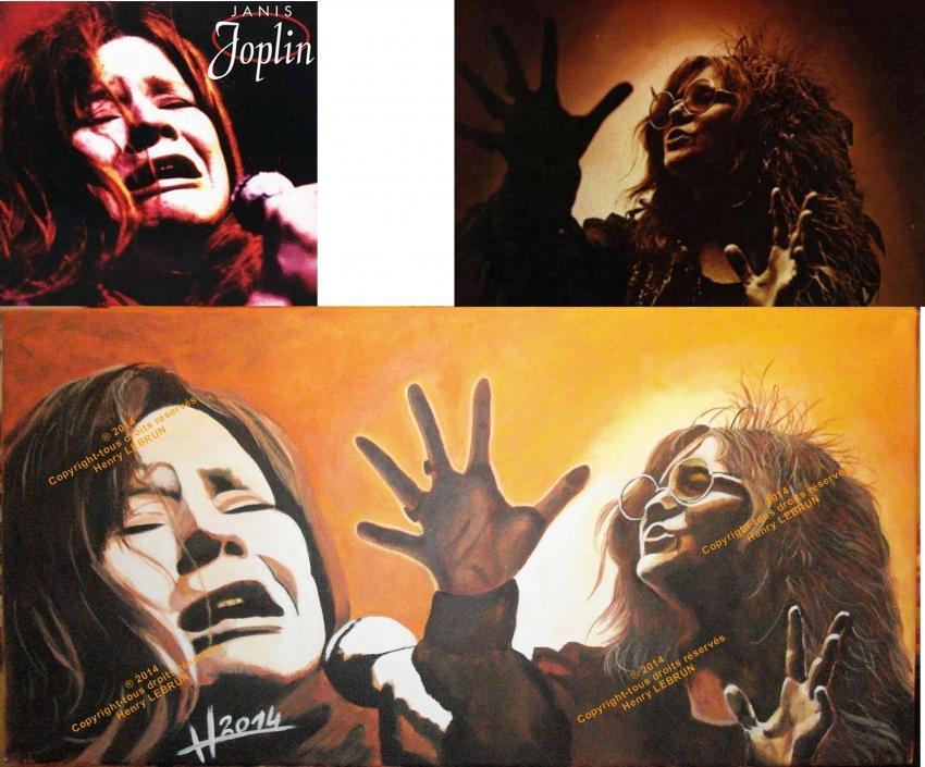 Janis Joplin by lhommeloiret